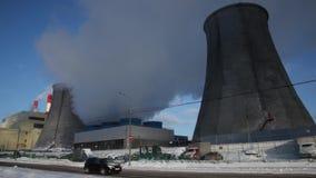 Air Pollution Smoking Chimneys stock video footage