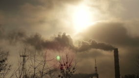 Air Pollution Time Lapse stock video footage