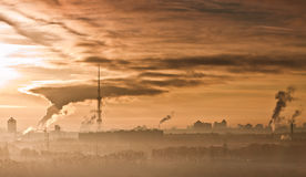 Air pollution in towns. Stock Photos