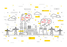 Air pollution vector illustration Stock Images