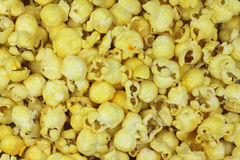 Air popcorn yellow background Royalty Free Stock Images