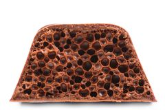Air porous chocolate. Royalty Free Stock Image