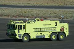 Air Port Fire Truck. This a fire truck that is on the scene for an airshow Royalty Free Stock Images