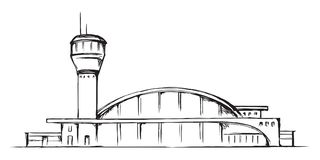 Airport building. Vector drawing vector illustration