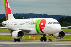 Air Portugal Airbus A319 Stockfotos