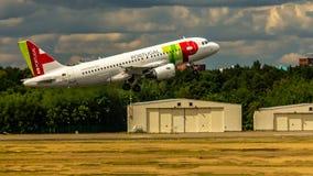 Air Portugal flygbuss A319 arkivfoto