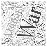Air Power Developments Between the Wars word cloud concept  background Stock Photography