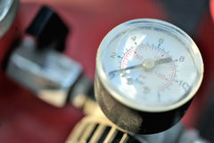 Air pressure gauge. An air pressure gauge for reading tire pressure Royalty Free Stock Photo