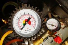 Air pressure gauge Stock Image