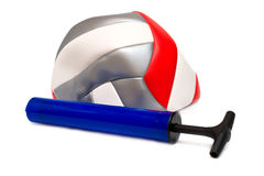 Air pump and ball Royalty Free Stock Image