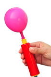 Air pump and balloon Royalty Free Stock Photo