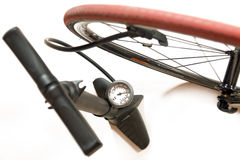 Air pump with bicycle Royalty Free Stock Photo