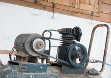 Air pump machine motor on working Stock Images