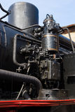 Air pump steam locomotive Royalty Free Stock Image
