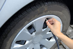 Air pump for tire Stock Photo