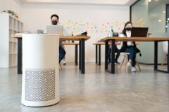 Free Air Purifier In Modern Office Stock Photography - 194442692