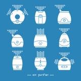 Air purifier set 1 Stock Photos