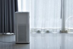 Free Air Purifier System Cleaning Dust Pm 2.5 Pollution Royalty Free Stock Photography - 169506177