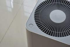 Free Air Purifier System Cleaning Dust Pm 2.5 Pollution Stock Photo - 170536530