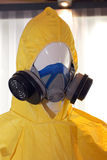 Air Purifying Respirator & Hazmat Suit Royalty Free Stock Photo