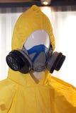 Air Purifying Respirator & Hazmat Suit. Close-up shot of Air Purifying Respirator & Hazmat Suit Royalty Free Stock Photo