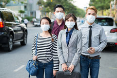 When air quality is a health threat Royalty Free Stock Image