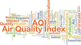 Air quality index AQI background concept Royalty Free Stock Images