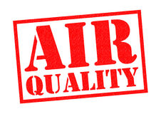 AIR QUALITY. Red Rubber Stamp over a white background Stock Photos