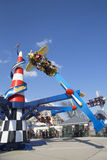 Air race in Coney Island Luna Park Royalty Free Stock Image