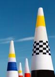 Air race gates Stock Photo