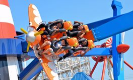 Air Race Thrill Ride Stock Photo