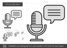 On air radio line icon. Stock Images