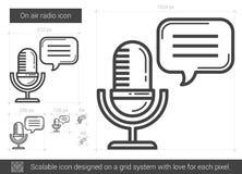 On air radio line icon. Stock Photography