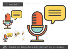 On air radio line icon. Royalty Free Stock Images