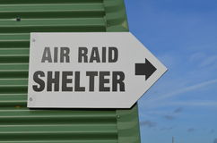 Air Raid Shelter Sign. Royalty Free Stock Image