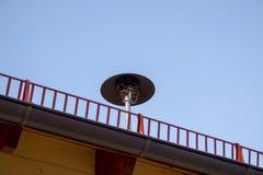 Air Raid Siren On Roof Stock Image