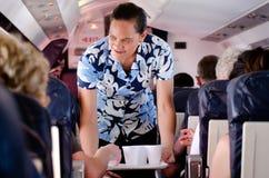 Air Rarotonga - cuisinier Islands Image stock