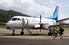 Air Rarotonga - kock Islands Arkivbilder