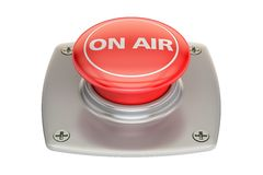 On Air Red button, 3D rendering. Isolated on white background Stock Photo