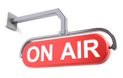 On air on a red plate Royalty Free Stock Image