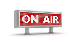 On Air - red warning plate Royalty Free Stock Photo