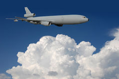Air refueling tanker in flight Stock Image