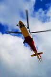 Air Rescue. Rescue helicopter lifting up in the air Stock Photos