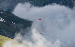 Air rescuer is on duty,Switzerland Stock Photography