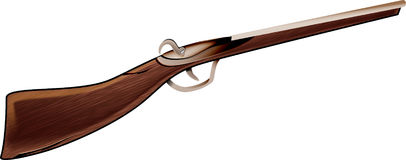 Air rifle. Old wooden air rifle illustration Royalty Free Stock Image