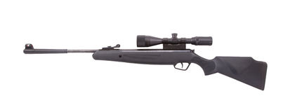 Air rifle isolated over white Royalty Free Stock Images