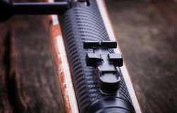 Air rifle, rear sight Stock Photography