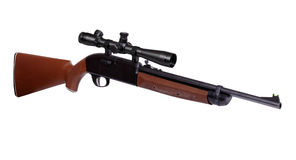 Air rifle with riflescope Royalty Free Stock Photo