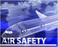 Air safety Abstract concept digital illustration Stock Photo