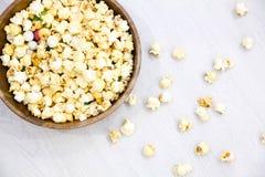 Air salty popcorn Stock Photos